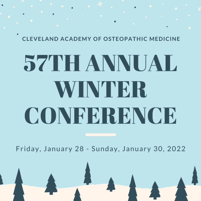 SAVE THE DATE   56th Winter Conference 2021