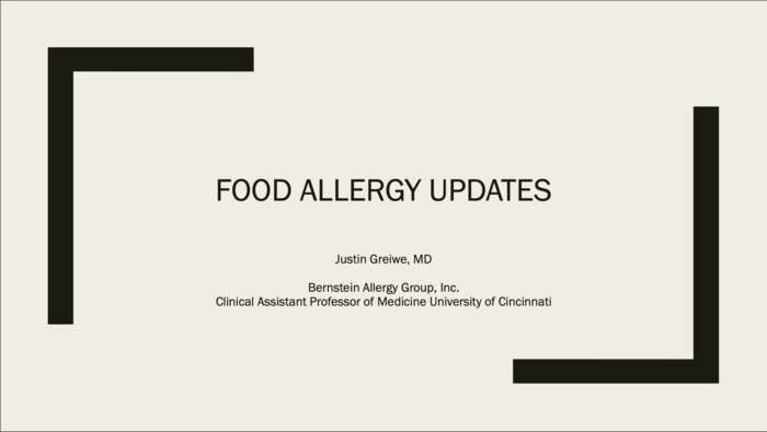 Food Allergy Updates