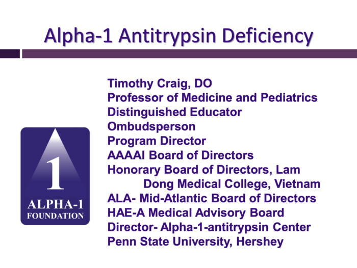 Alpha-1 Antitrypsin Deficiency