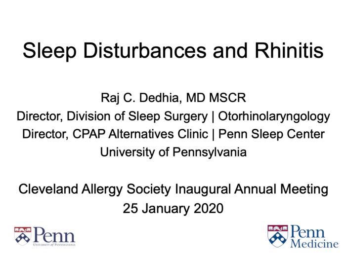 Sleep Disturbances and Rhinitis