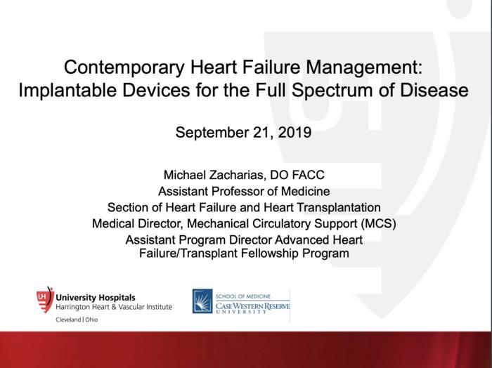 Contemporary Heart Failure Management