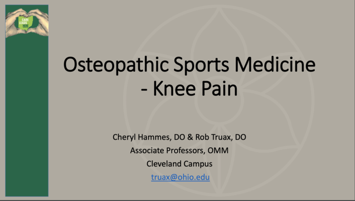Osteopathic Sports Medicine – Knee Pain