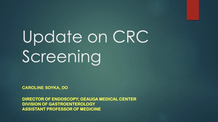 Update on CRC Screening