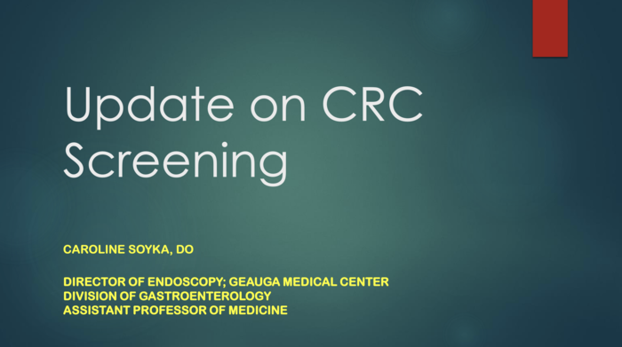 Update on CRC Screening