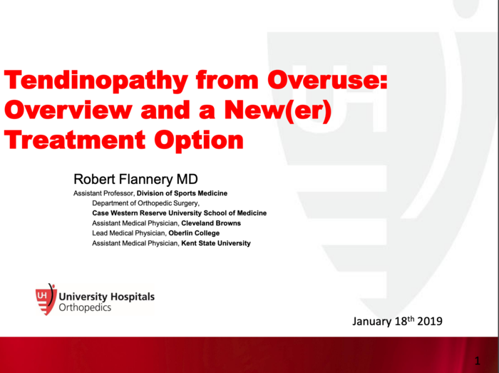 Tendinopathy from Overuse: Overview and a New(er) Treatment Option