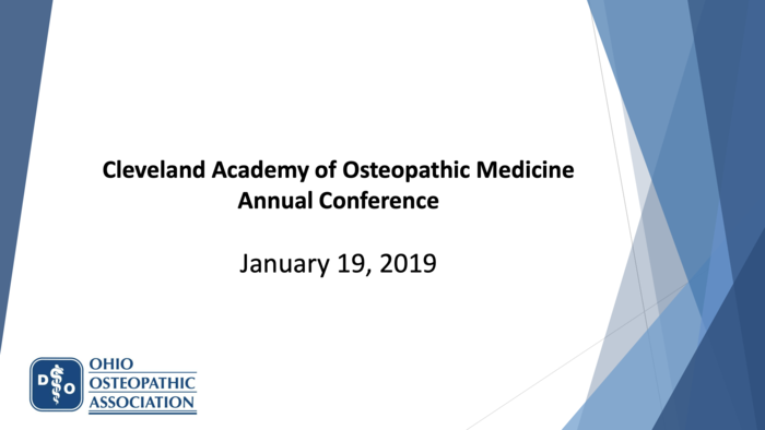 Ohio Osteopathic Association Update