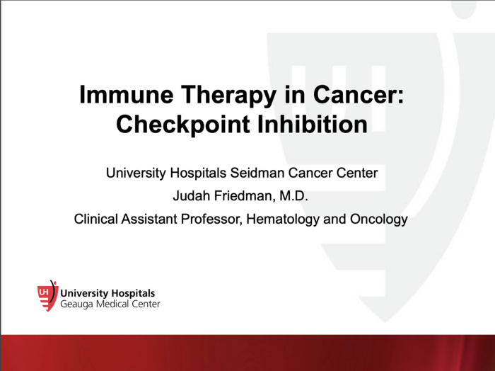 Immune Therapy in Cancer: Checkpoint Inhibition