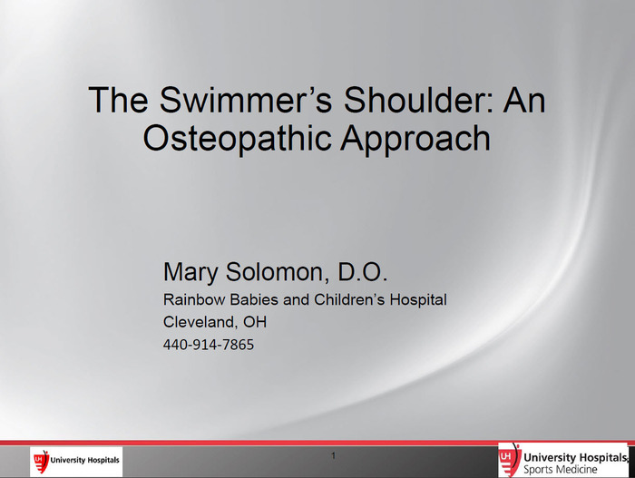 The Swimmer's Shoulder: An Osteopathic Approach