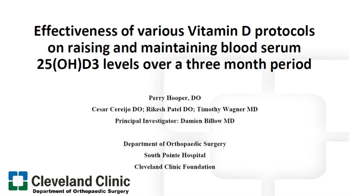 Effectiveness of Various Vitamin D Protocols