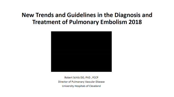 New Trends and Guidelines in the Diagnosis and Treatment of Pulmonary Embolism 2018