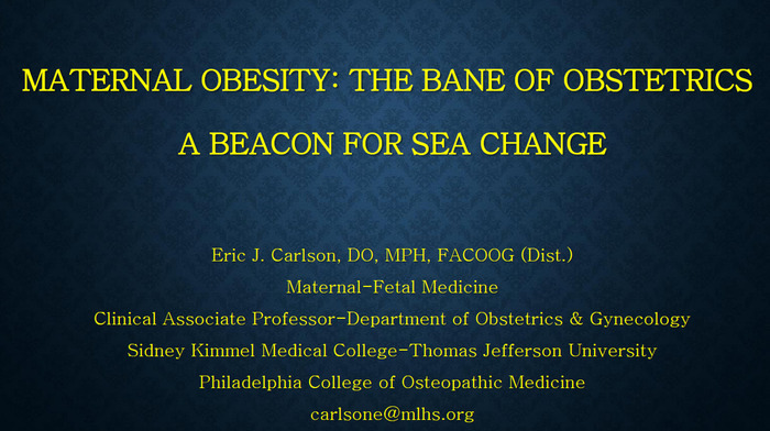 Maternal Obesity: The Bane of Obstetrics