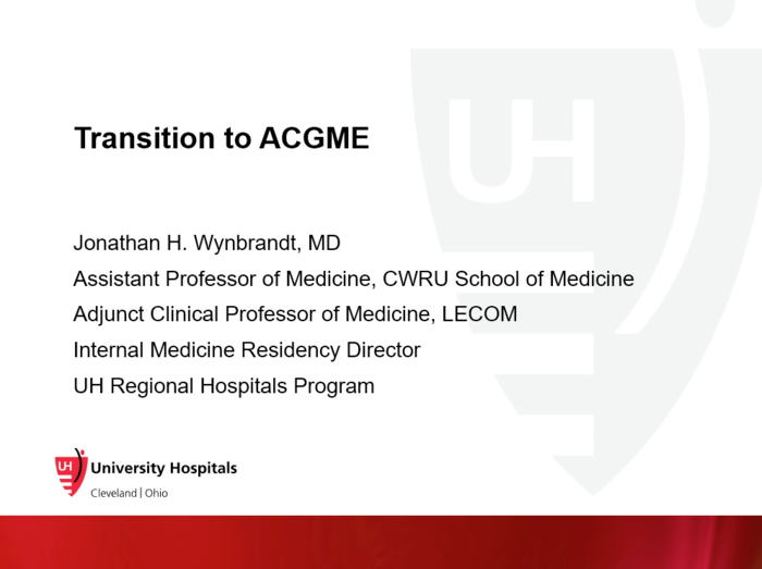 Transition to ACGME