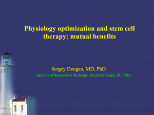 Physiology Optimization and Stem Cell Therapy: Mutual Benefits