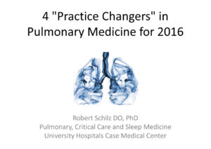 "4 ""Practice Changers"" in Pulmonary Medicine for 2016"