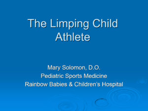 The Limping Child Athlete