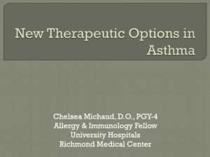 New Therapeutic Options in Asthma