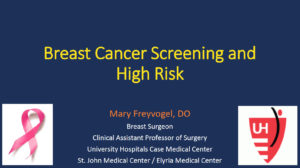Breast Cancer Screening and High Risk