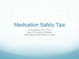 Medication Safety Tips