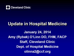 Update in Hospital Medicine