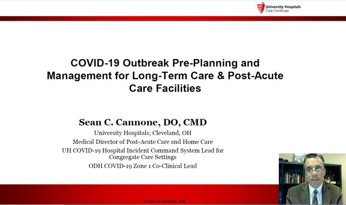 COVID-19 Outbreak Pre-Planning and Management for Long Term Care and Post Acute Care Facilities