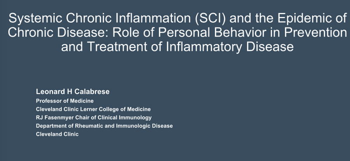 Systemic Chronic Inflammation (SCI) and the Epidemic of Chronic Disease: Role of Personal Behavior in Prevention and Treatment of Inflammatory Disease