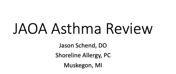 Asthma and OMT