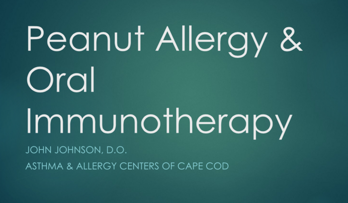 Peanut Allergy and Oral Immunotherapy